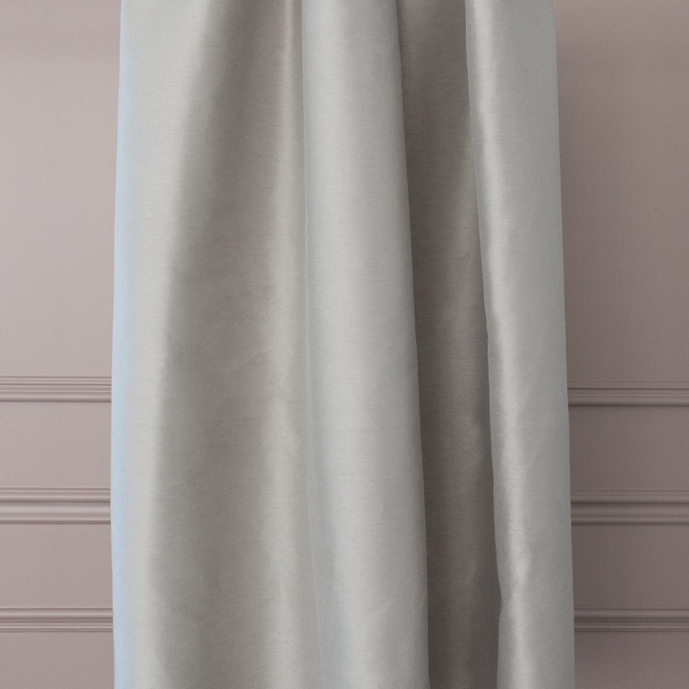 Lucca Fabric, Chateau, a taupe silk blend drapery fabric from Tonic Living