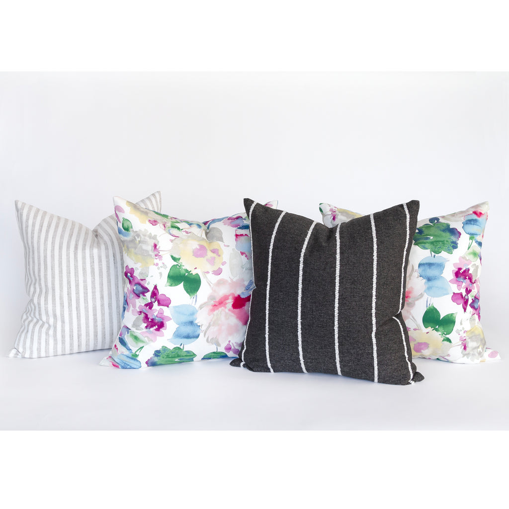 Lucie watercolor floral pillow from Tonic Living, as seen on Cat & Nat