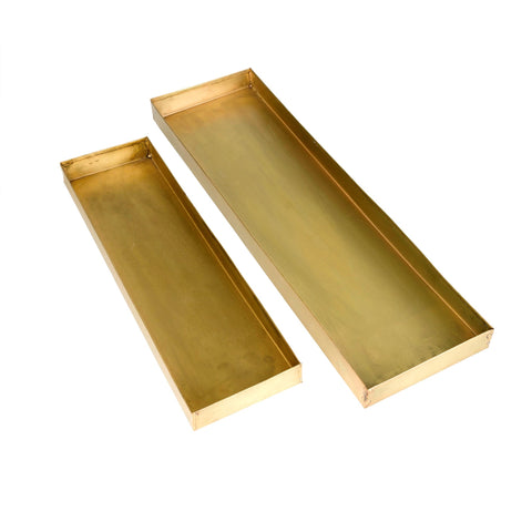 Maria, Brass Rectangle Tray - [Product_type] - Tonic Living