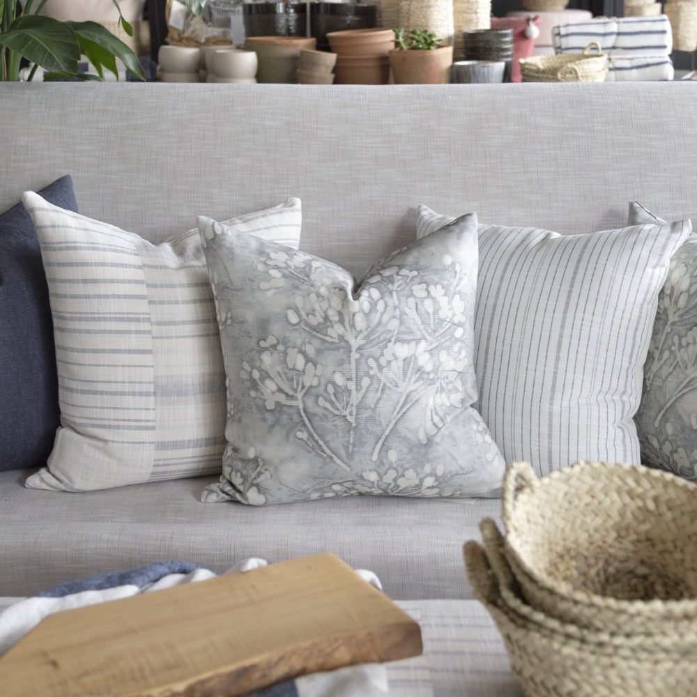 Meadow pillow gray floral from Tonic Living