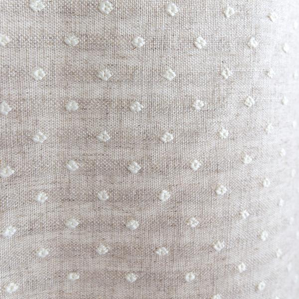 Mila Dot, Flax white and beige linen blend polka dot fabric from Tonic Living