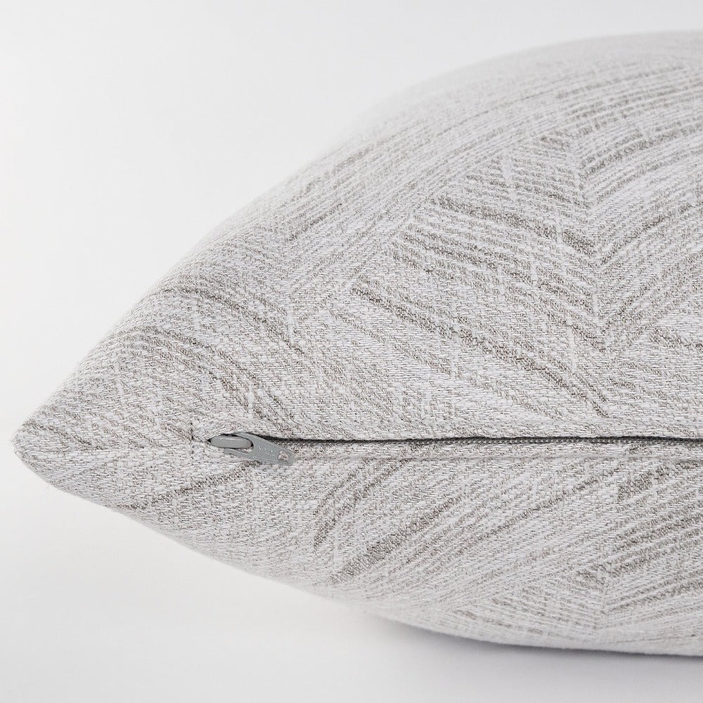 Muro soft gray waves Tonic Living pillow, fabric from Ellen Degeneres