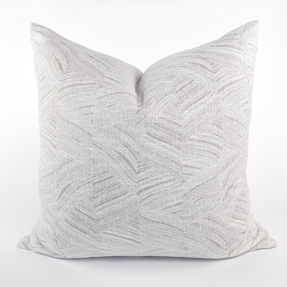 Muro soft gray waves Tonic Living large 24x24 pillow, fabric from Ellen Degeneres