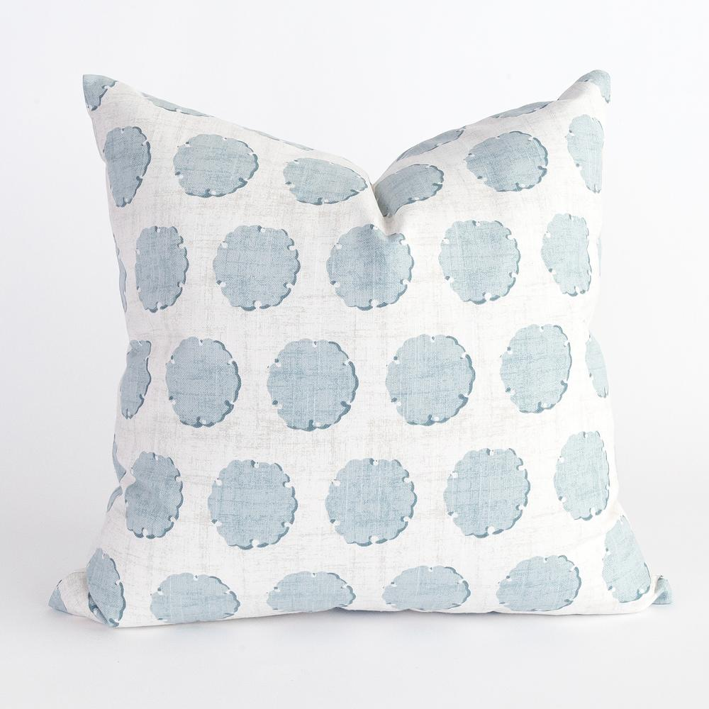 Nate blue polka dot pillow from Tonic Living