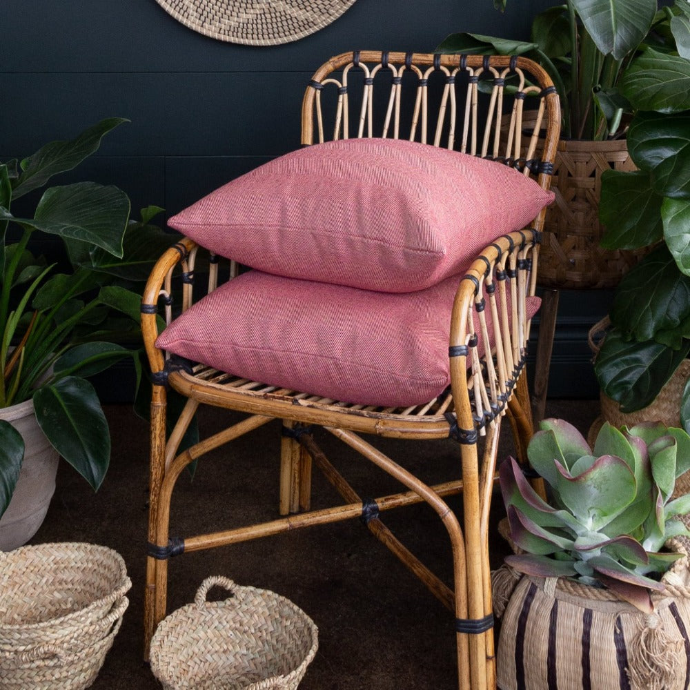 Neigel outdoor pink chevron pillow from Tonic Living