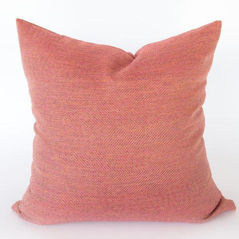 Neigel outdoor pink and red chevron pillow from Tonic Living
