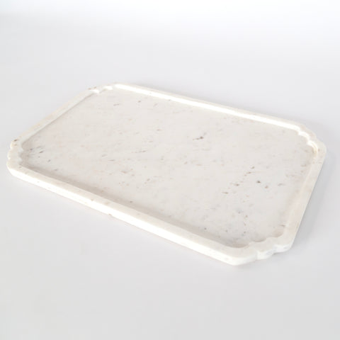 Nicola White Marble Tray from Tonic Living