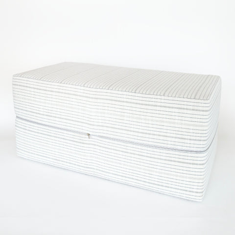 Olcott Bench Ottoman, Graphite Inside Out from Tonic Living