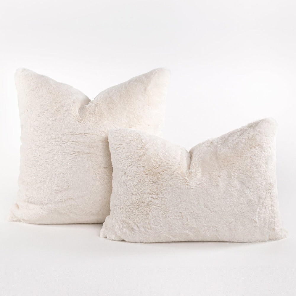 Oslo faux fur mini lumbar pillow from Tonic Living