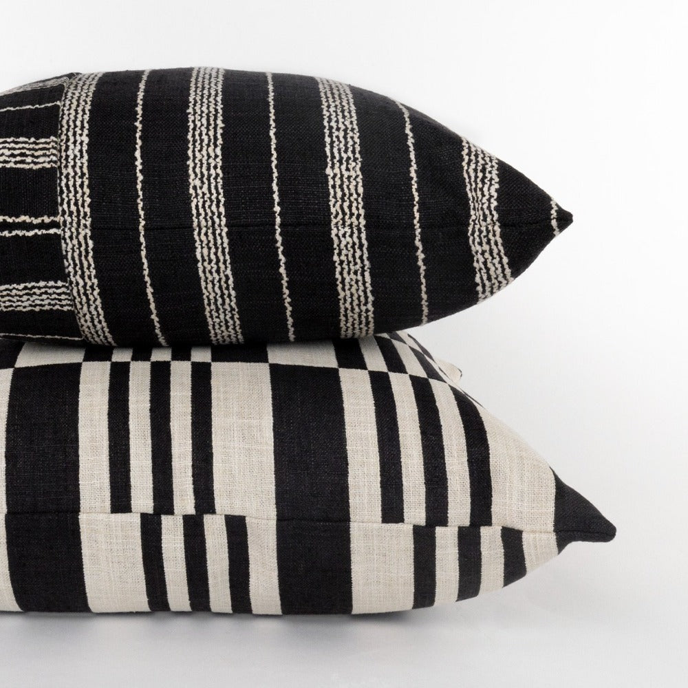 Graphic black and cream pillows from Tonic Living
