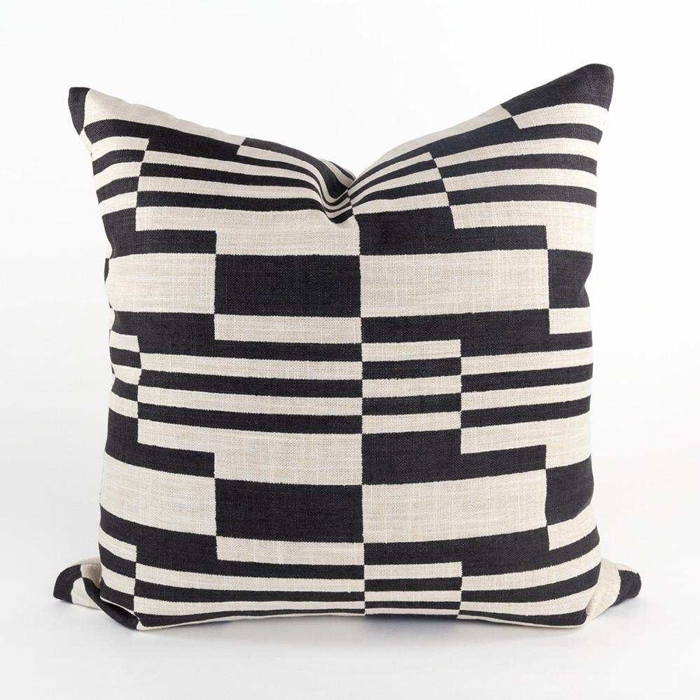 Ossington, Graphic black and beige pillow from Tonic Living