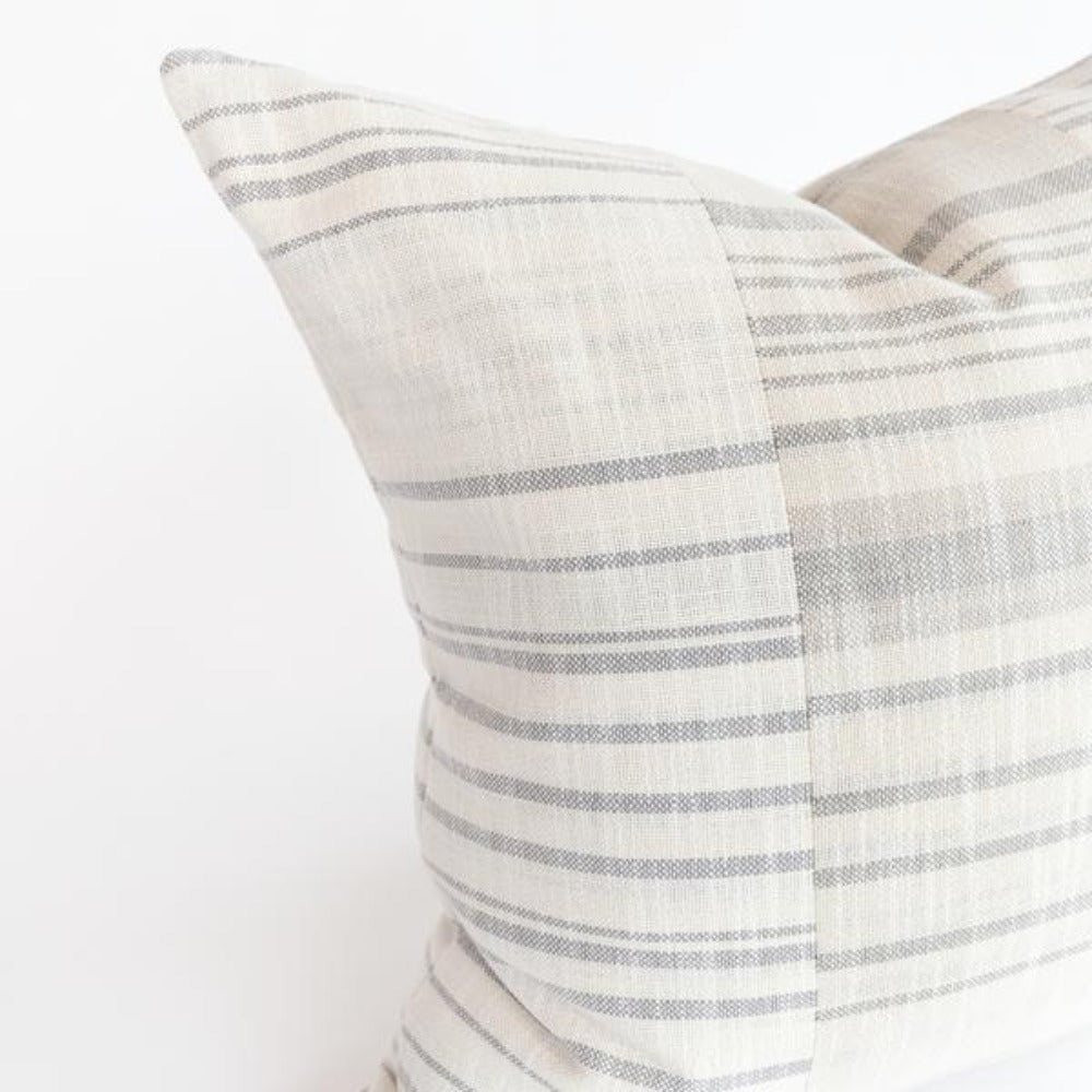 Patchwork gray stripe pillow from Tonic Living