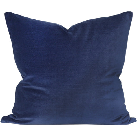 Velvet Indigo - A rich, indigo blue velvet pillow