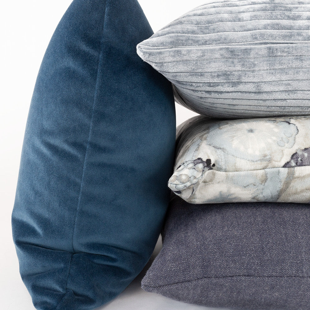 Tonic Living blue pillow combination