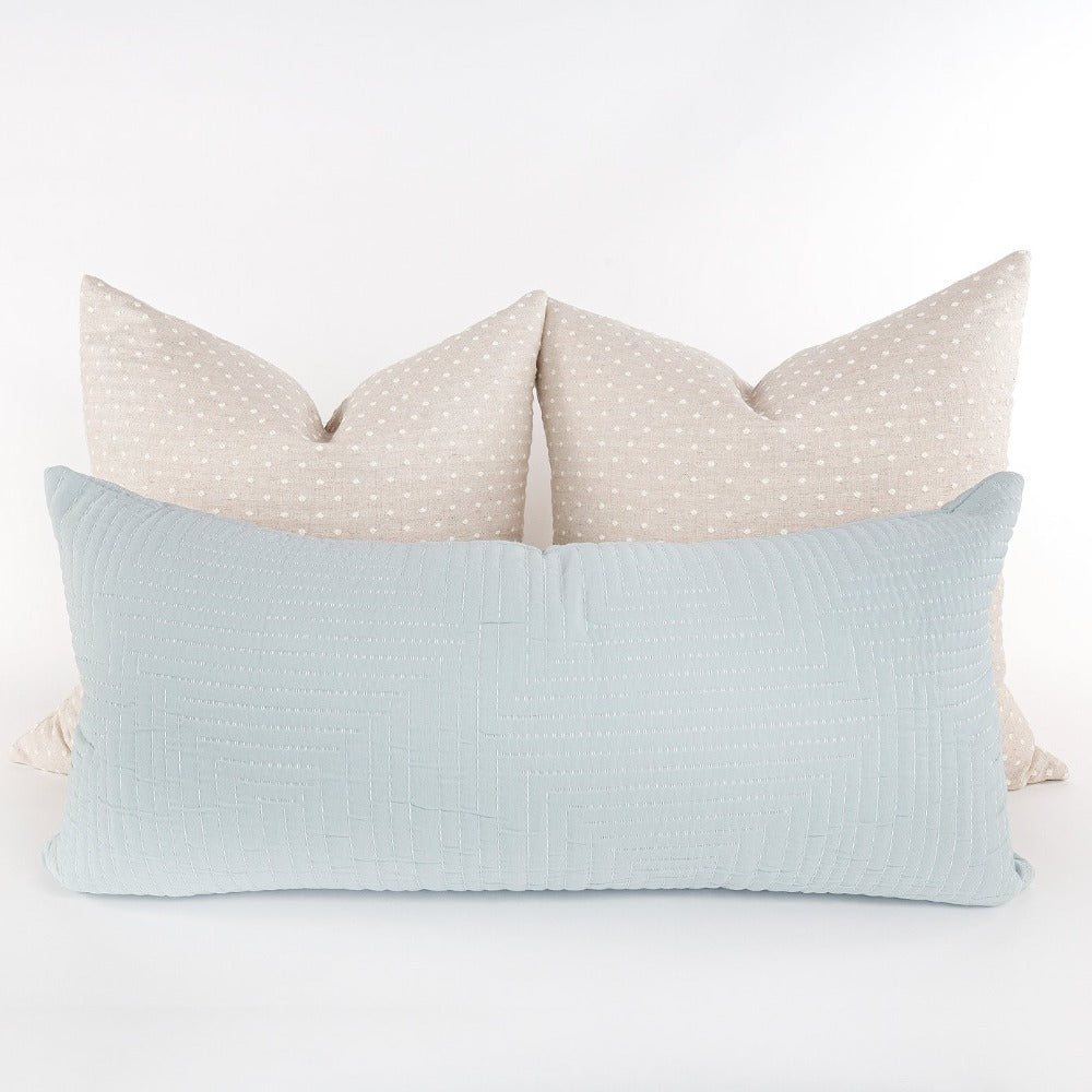 Pollenca 15x32 Extra Long Pillow, Mist