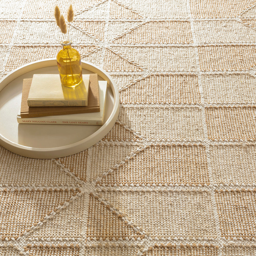 Ojai Wheat Loom cotton beige Dash and Albert rug available at Tonic Living