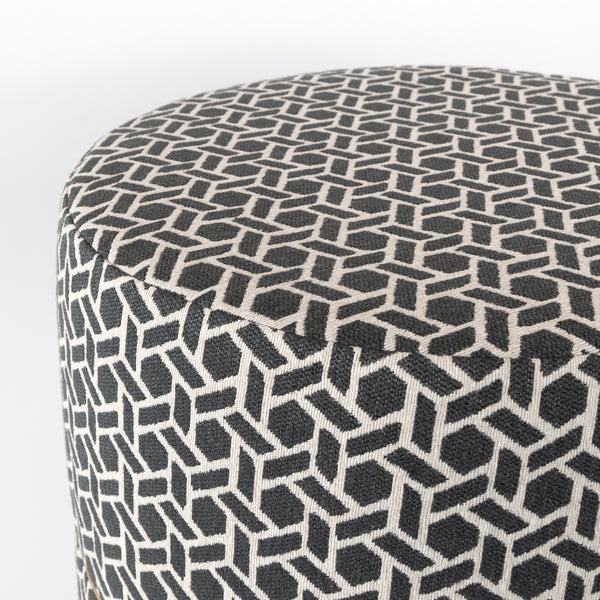 Magnificent Reed Round Ottoman Stool Charcoal Ibusinesslaw Wood Chair Design Ideas Ibusinesslaworg