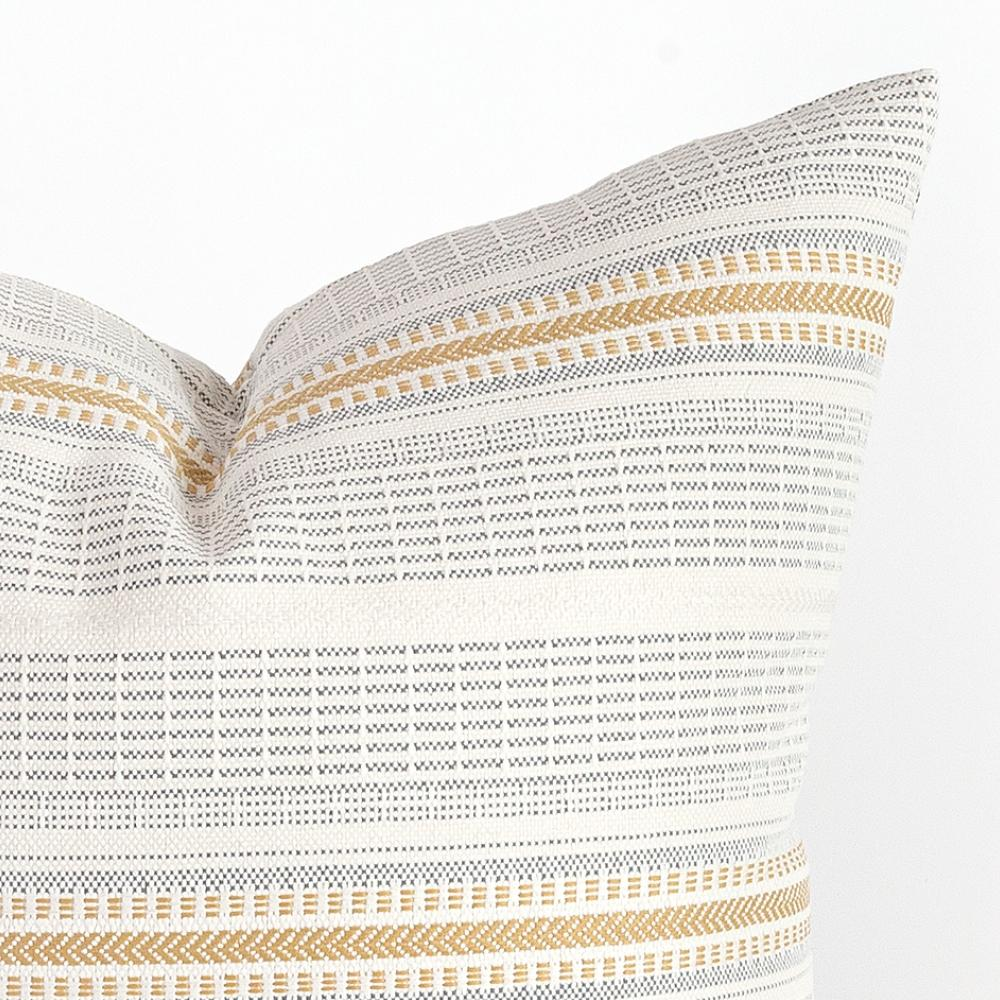 Rhodes yellow stripe outdoor pillow from Tonic Living