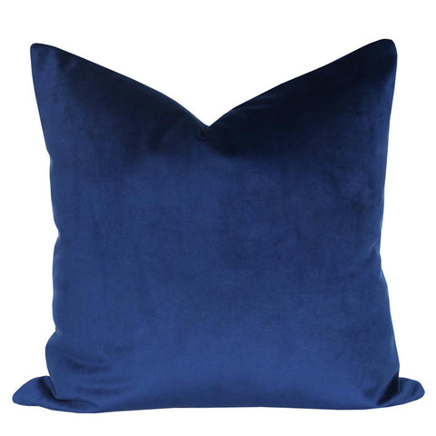Indigo blue velvet pillow from tonic living