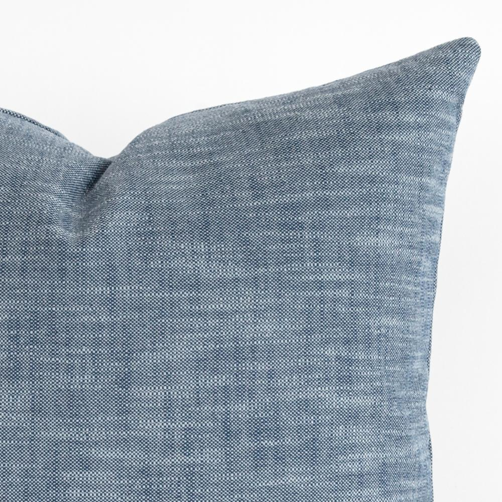 Ryder indigo blue outdoor pillow from Tonic Living