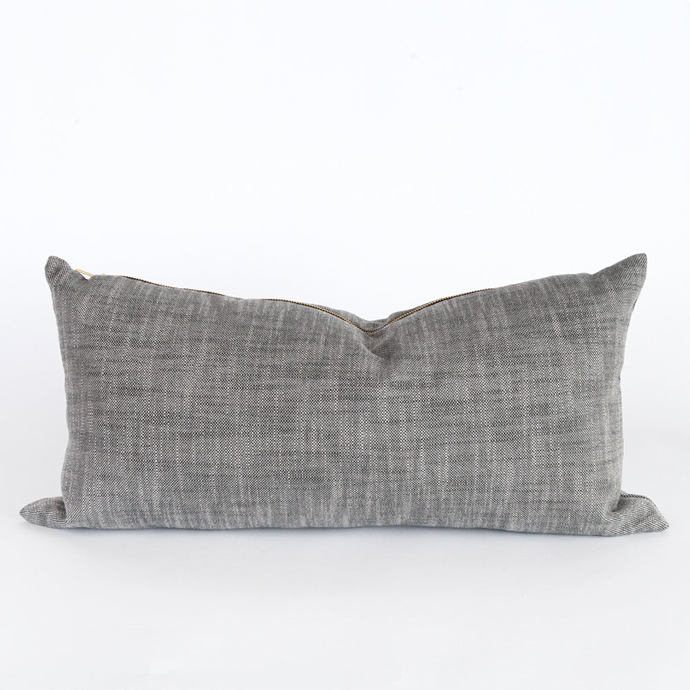 Ryder lumbar outdoor pillow, charcoal grey mink, Tonic Living