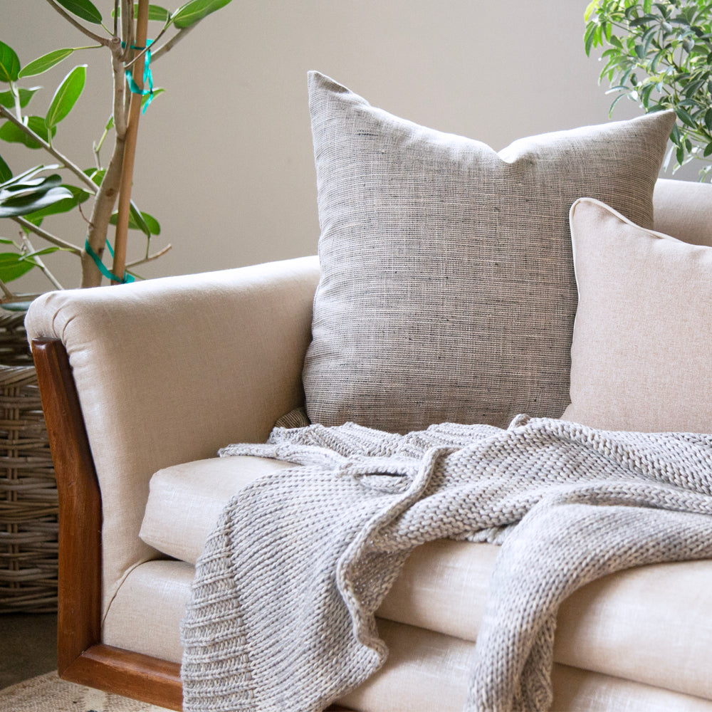 NEUTRAL TONIC LIVING PILLOWS ON SOFA