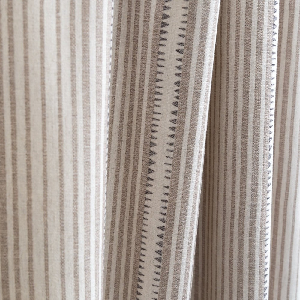 sandpiper organic mudcloth inspired stripe fabric from Tonic Living