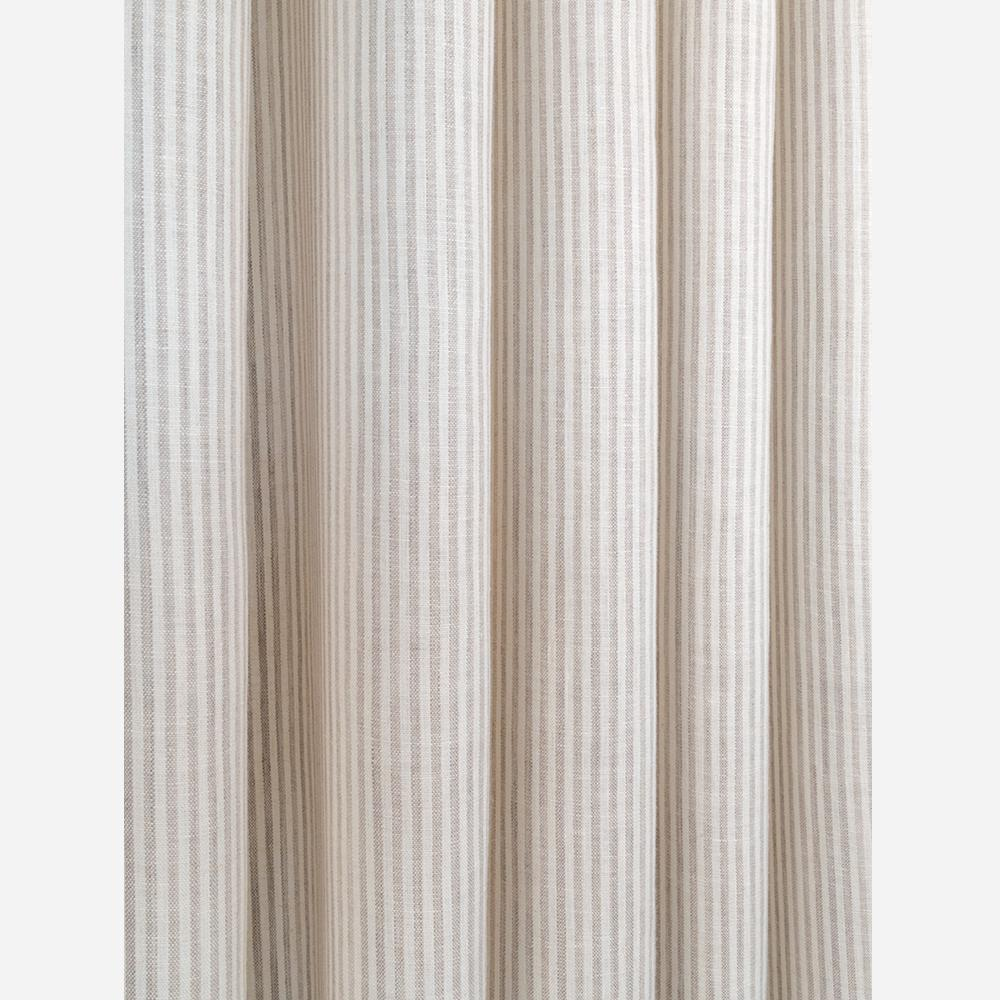 Siena, a beige and ivory stripe linen fabric from Tonic Living