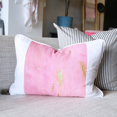 "14"" x 20"" Hand-Dyed Decorative Pillow  These one of a kind pillows are lovingly hand-dyed and painted by designer Tiffany Pratt exclusively for Tonic Living. The pillows, like original art, are all numbered as no two are alike."