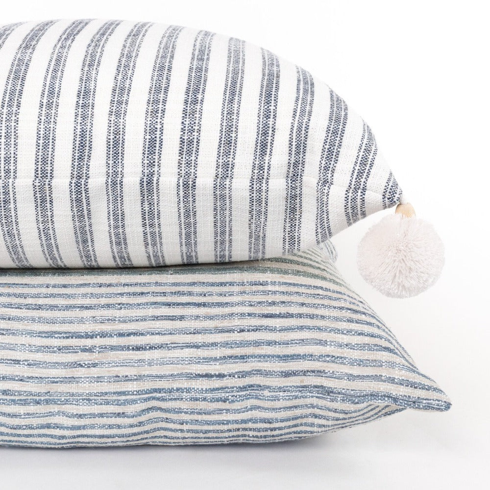 Blue stripe pillows from Tonic Living