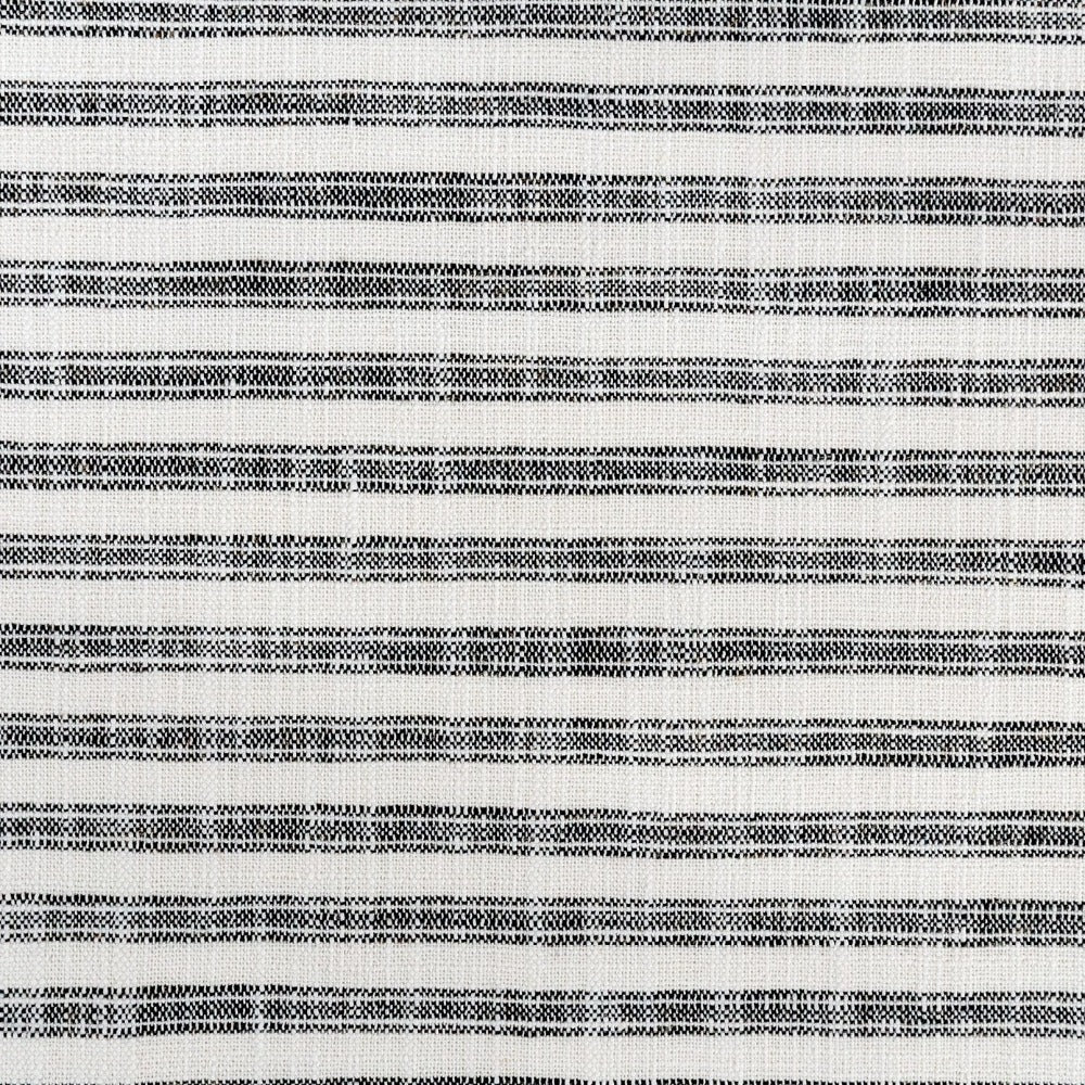Thompson black ticking stripe in a high performance weave from Tonic Living