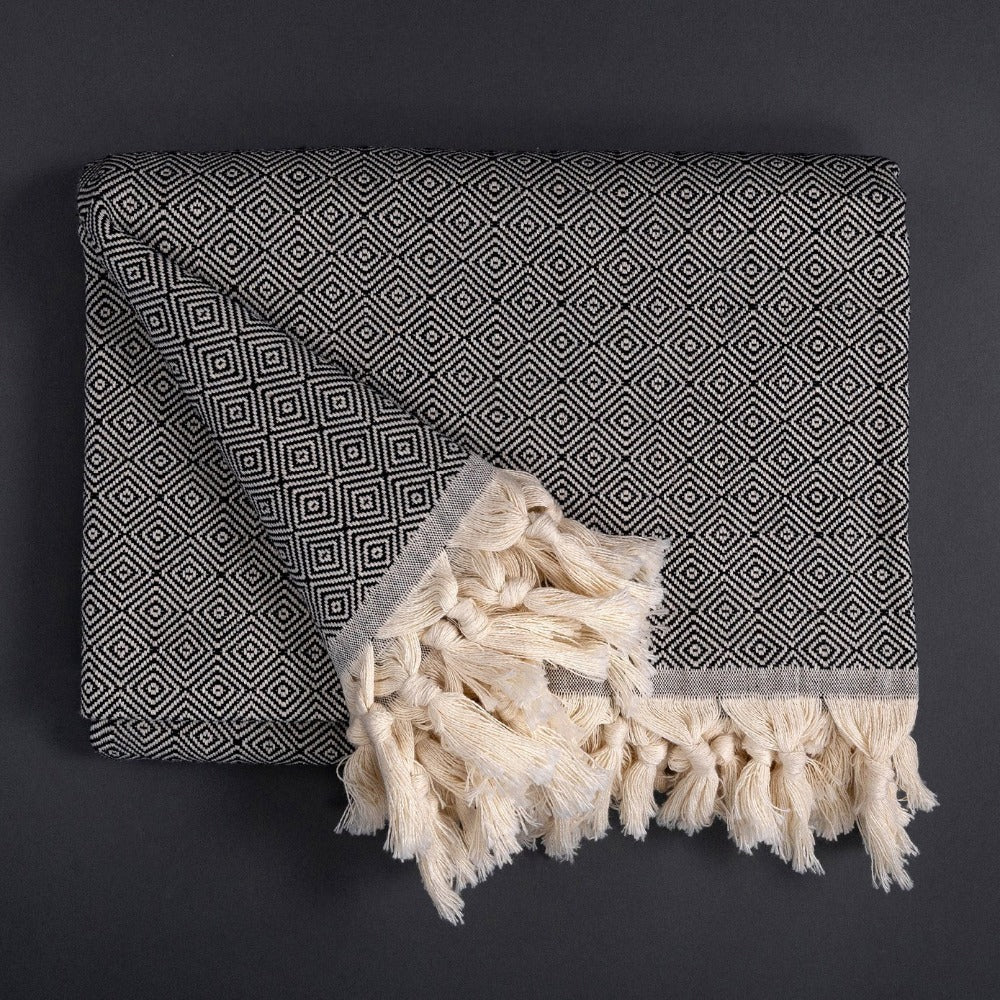 Takeda, Black Throw Blanket from Tonic Living