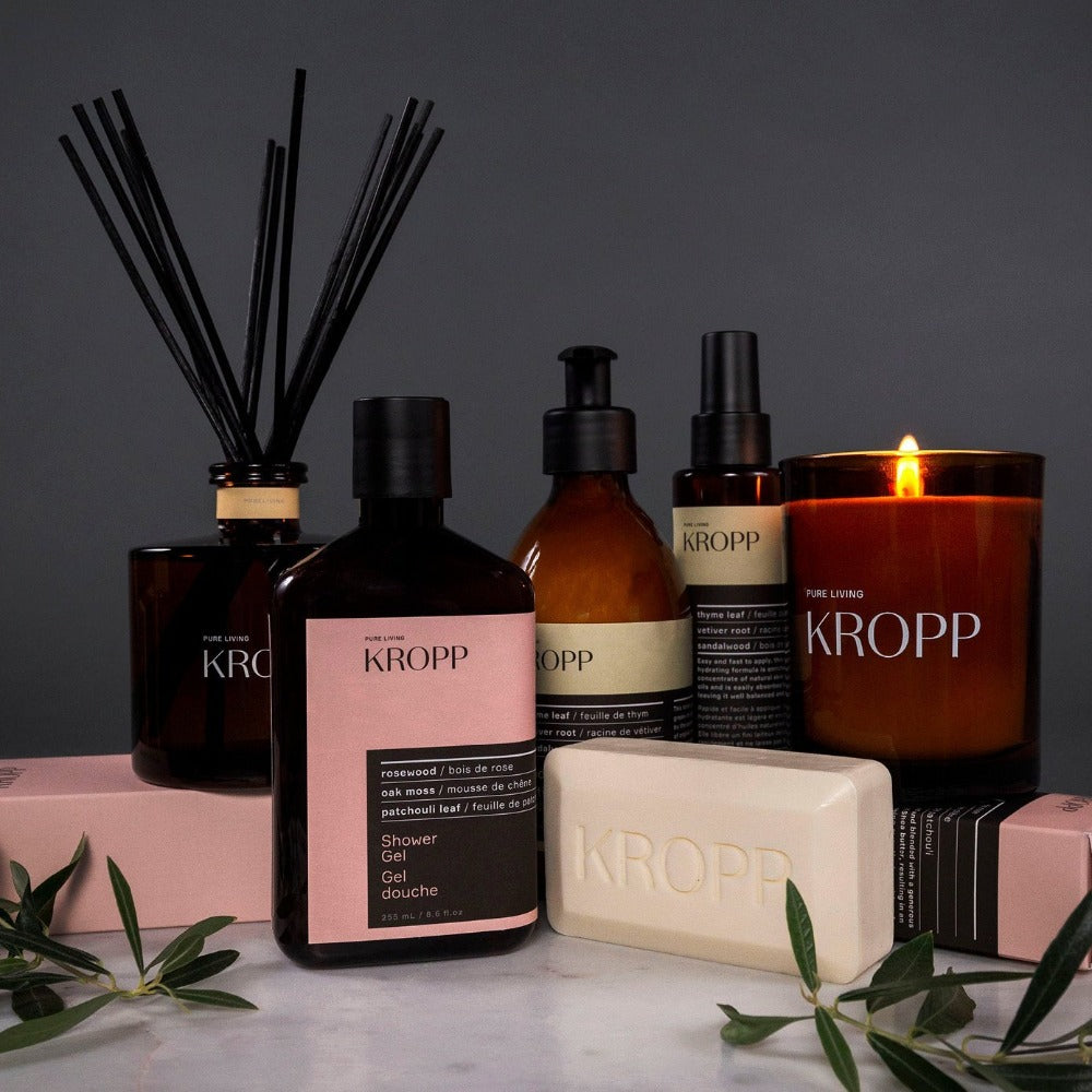 Kropp Shower Gel, a paraben free, rosewood, oak and patchouli scented shower soap from Tonic Living