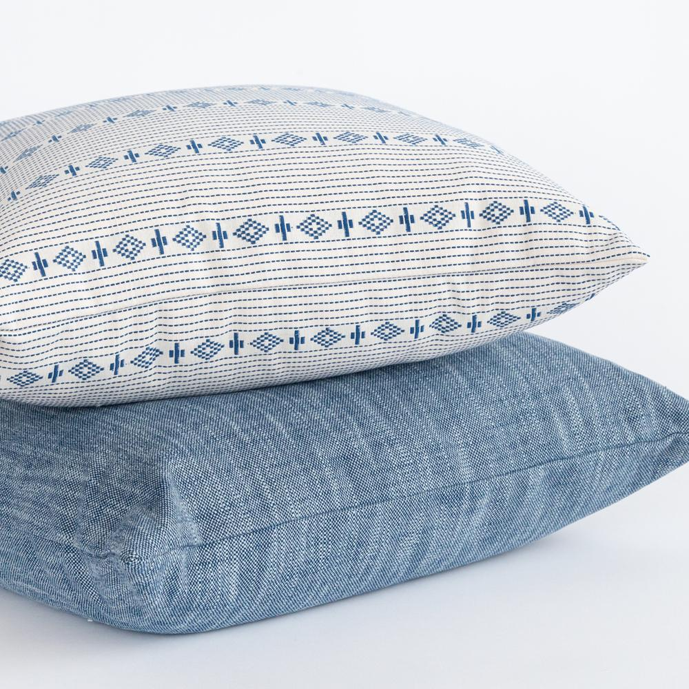 New blue and white pillows from Tonic Living