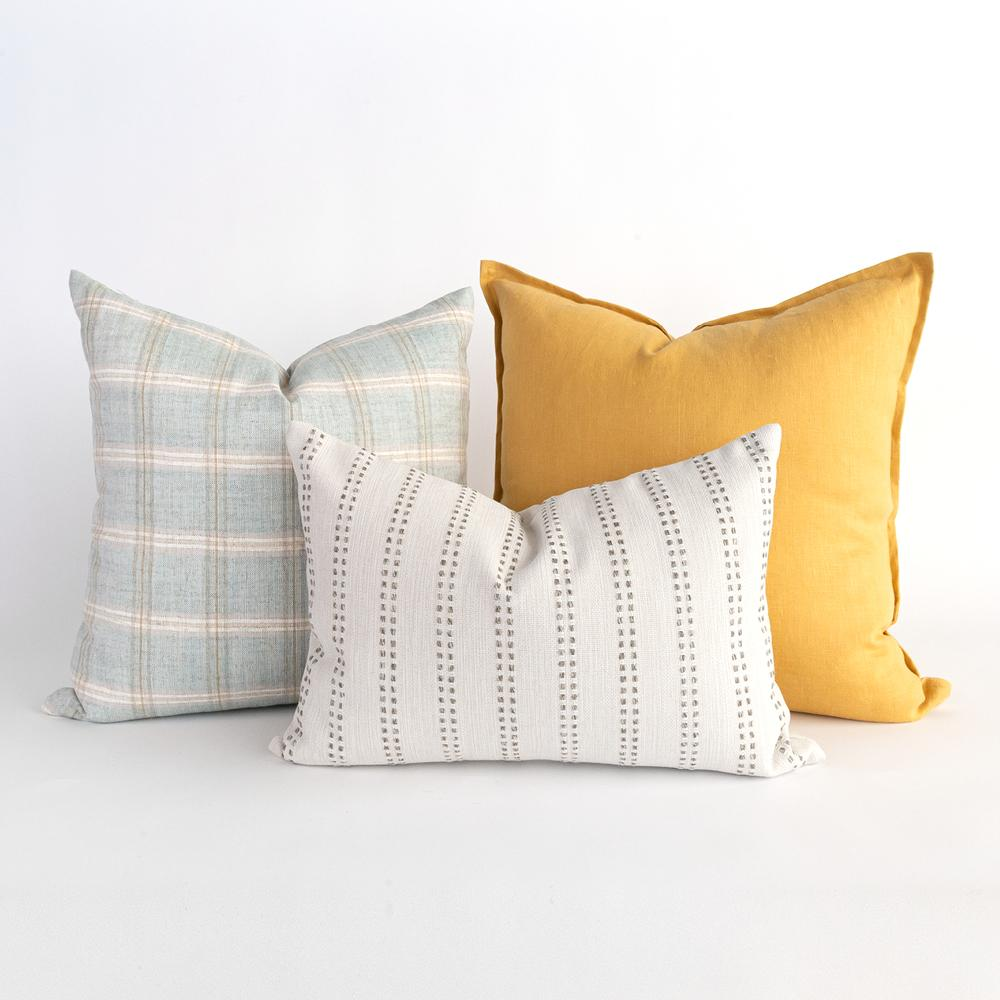 Bright and happy pillow combo from Tonic Living
