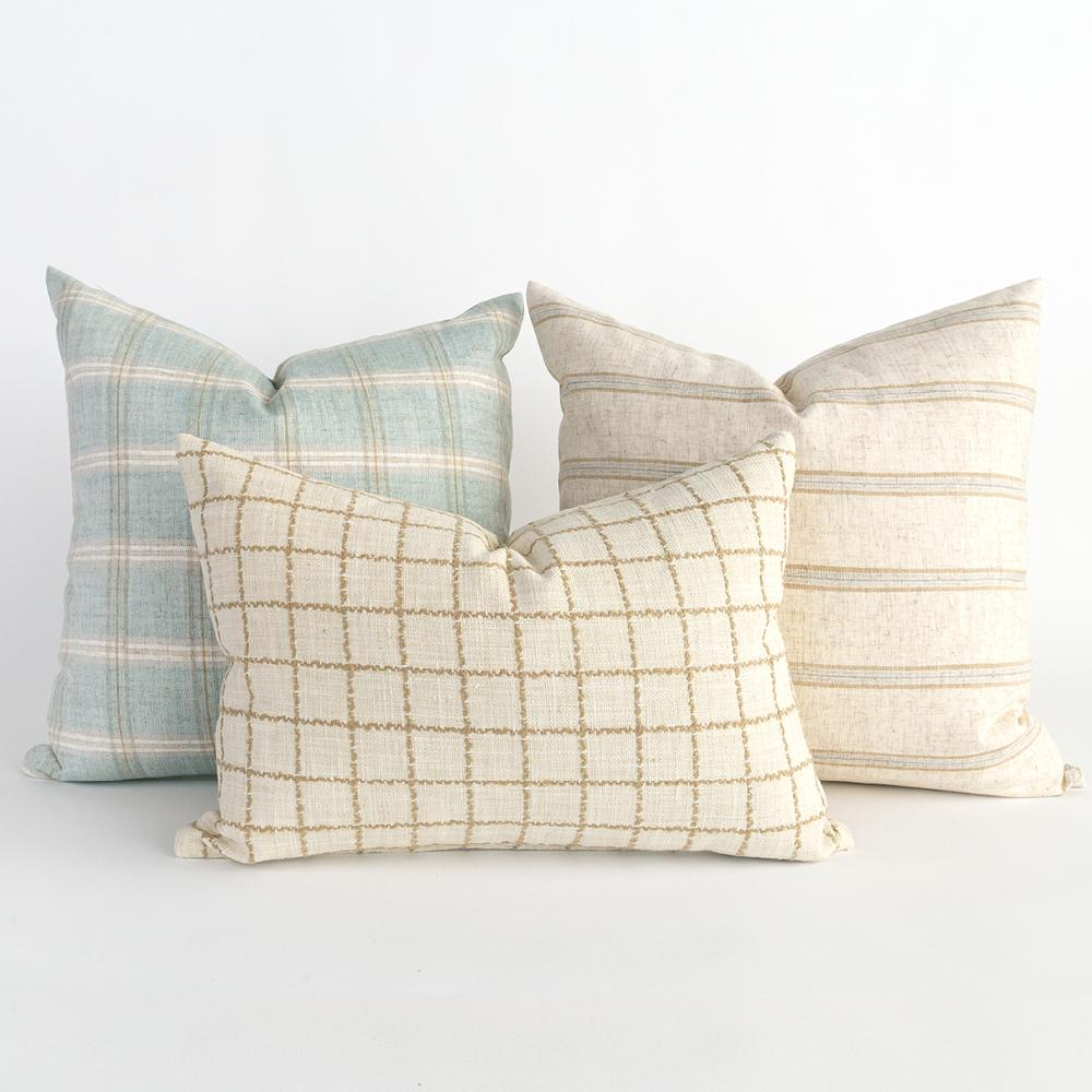 Casual and coastal pillow combo from Tonic Living