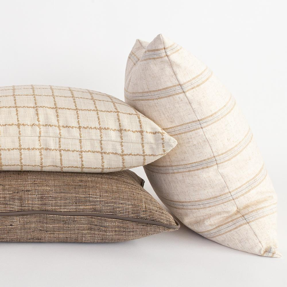 Natural and neutral pillow combination from Tonic Living