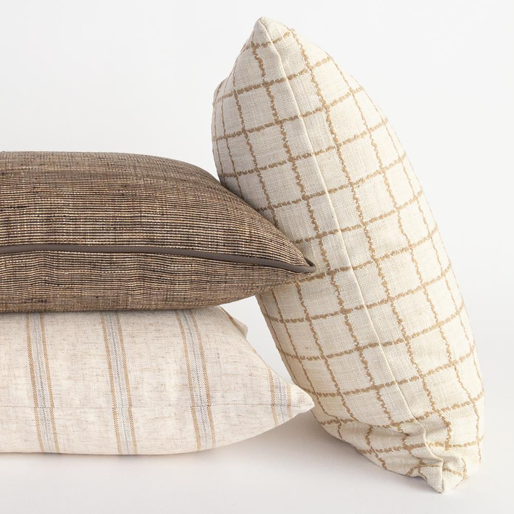 Beige and natural pillow combo from Tonic Living