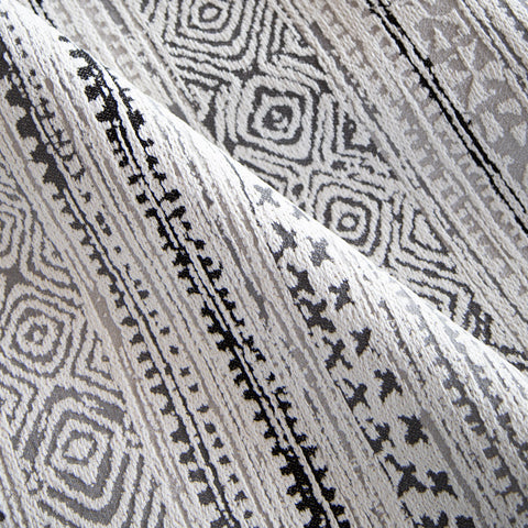 Tulum, Storm (Indoor/Outdoor) - This bohemian style indoor / outdoor fabric is durable enough to withstand interior wear or exterior elements.