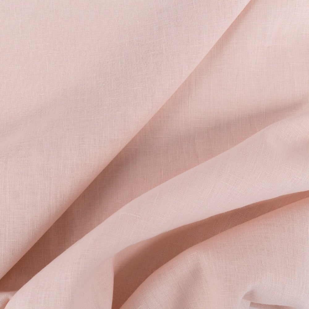 Tuscany Linen, Alt Pink, a soft muted pink fabric from Tonic Living