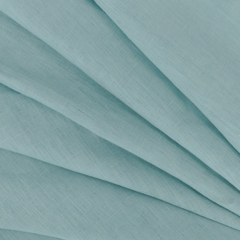 Tuscany Linen, Mosaic Blue, a dusted robin egg blue linen from Tonic Living