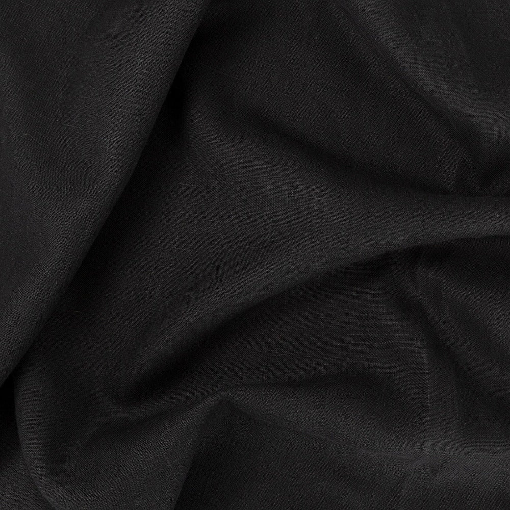 Tuscany Linen Onyx, a black linen fabric from Tonic Living