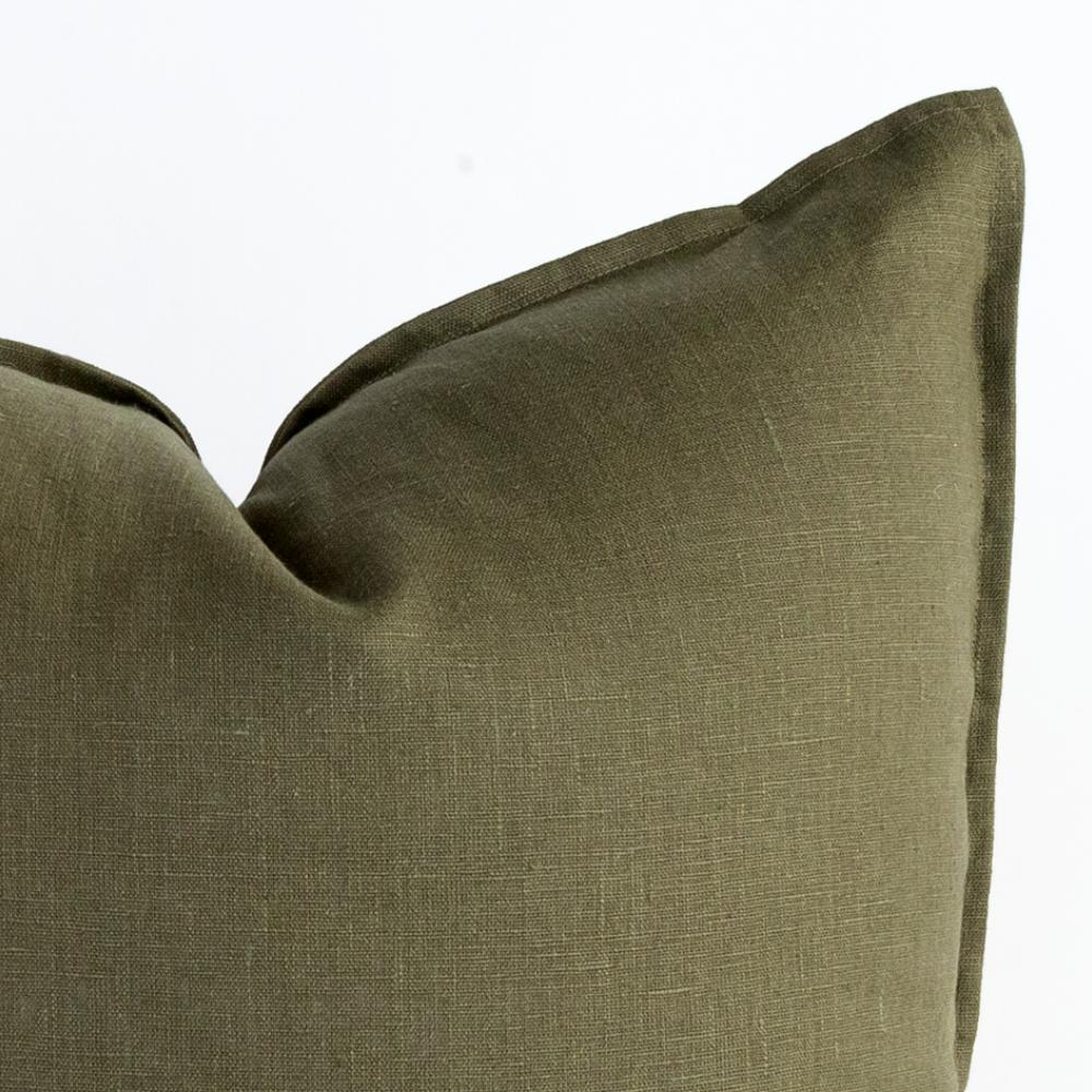 Tuscany green linen pillow from Tonic Living