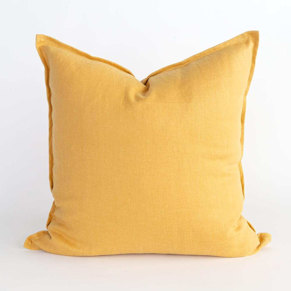 Tuscany yellow ochre linen pillow from Tonic Living