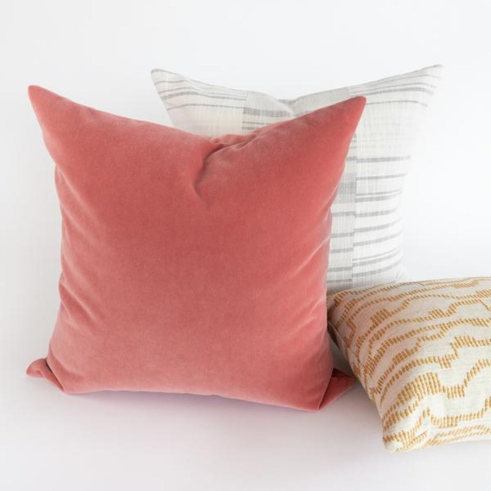 Valentina, Rosewood dusty rose pink velvet pillow from Tonic Living