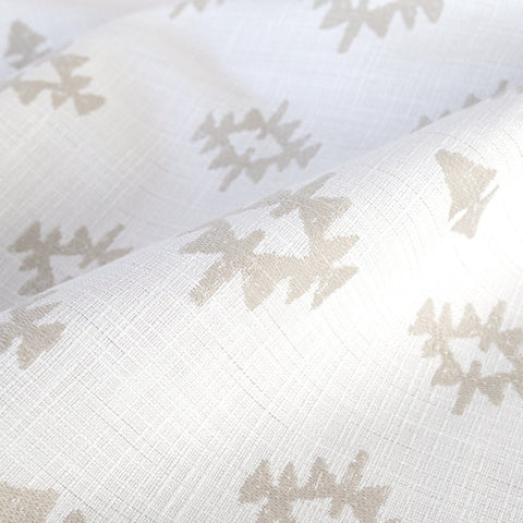 Viva fabric, Parchment, beige motifs on cream background from Tonic Living