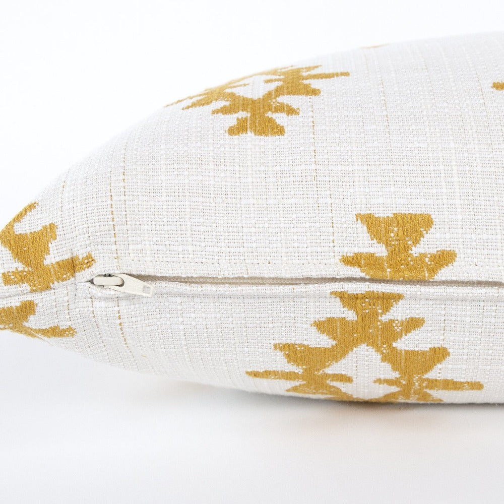 Viva Lumbar Pillow, Ochre, a mustard yellow southwestern inspired pillow from Tonic Living