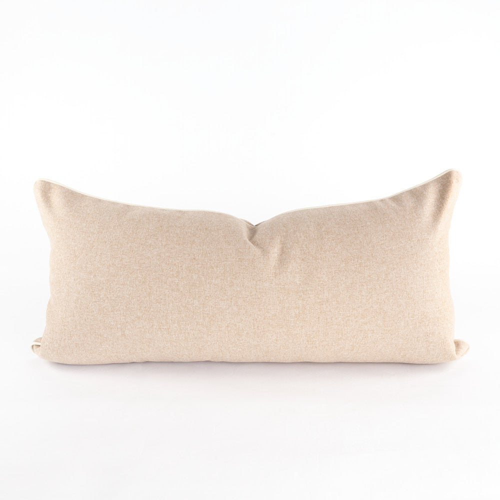 Willow a beige felt with cream piping large lumbar pillow from Tonic Living