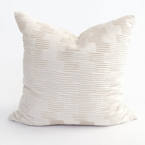 Zelda pillow a pleated velvet in off white from Tonic Living