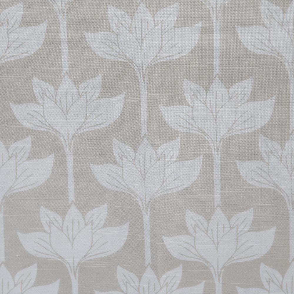 beige and white floral drapery fabric lotus flowers tonic living